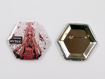 缶バッジ-六角形 サンプル2