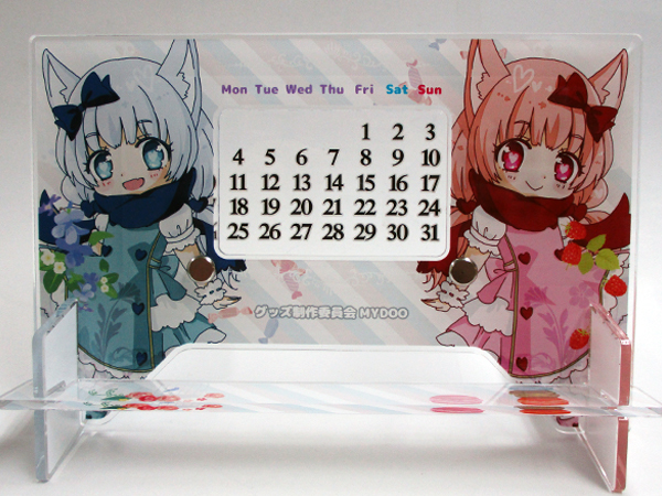 アクリル卓上カレンダー サンプル1