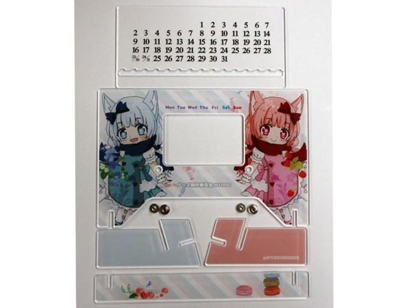 アクリル卓上カレンダー サンプル4